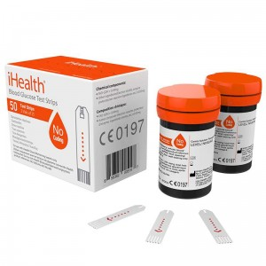 iHealth Codeless Blood Glucose Test Strips - Paski do Glukometru 0,7 ml bez enzymu GDH (2 x 25 szt.)